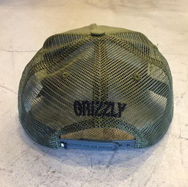 "Snapback Grizzly ""Nothern Rockie Trucker"" Verde Militar"