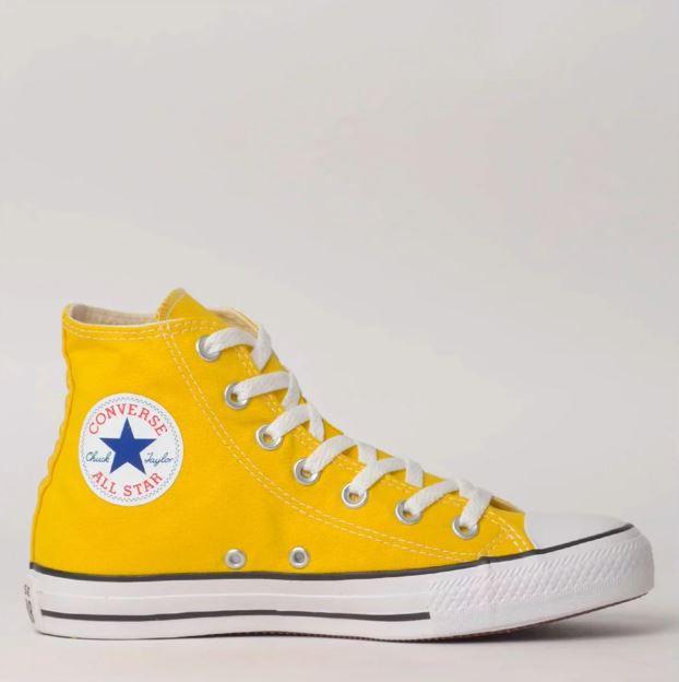 Tênis Converse Chuck Taylor All Star Amarelo Vivo/Preto/Branco