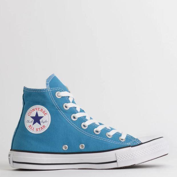 Tênis Converse Chuck Taylor All Star Hi Azul Acido
