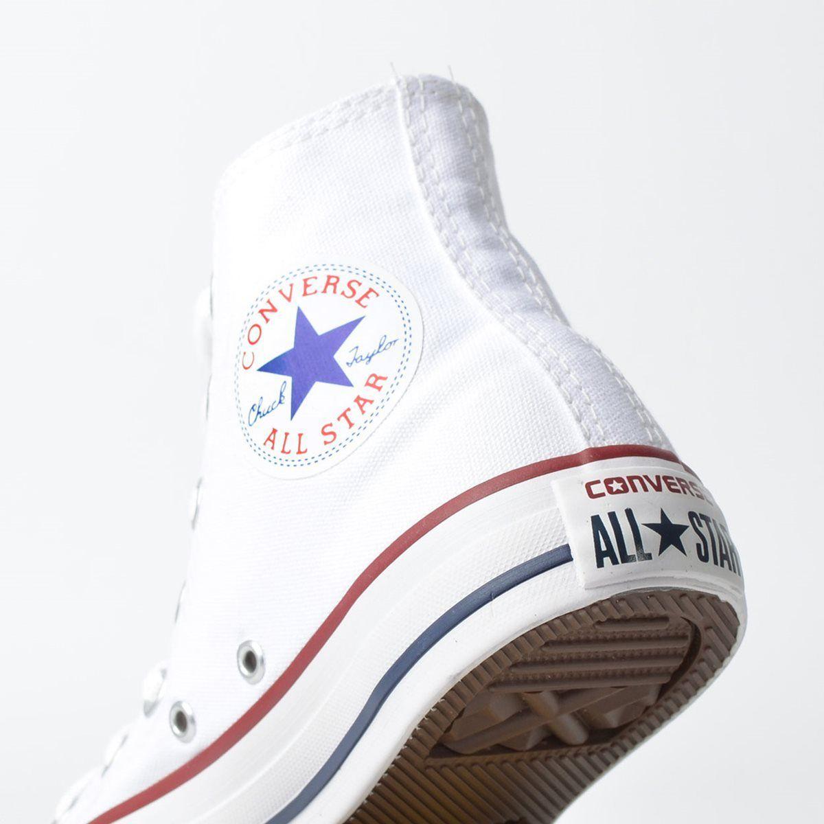 "Tênis Converse ""Chuck Taylor All Star"" Branco/Branco/Marinho"