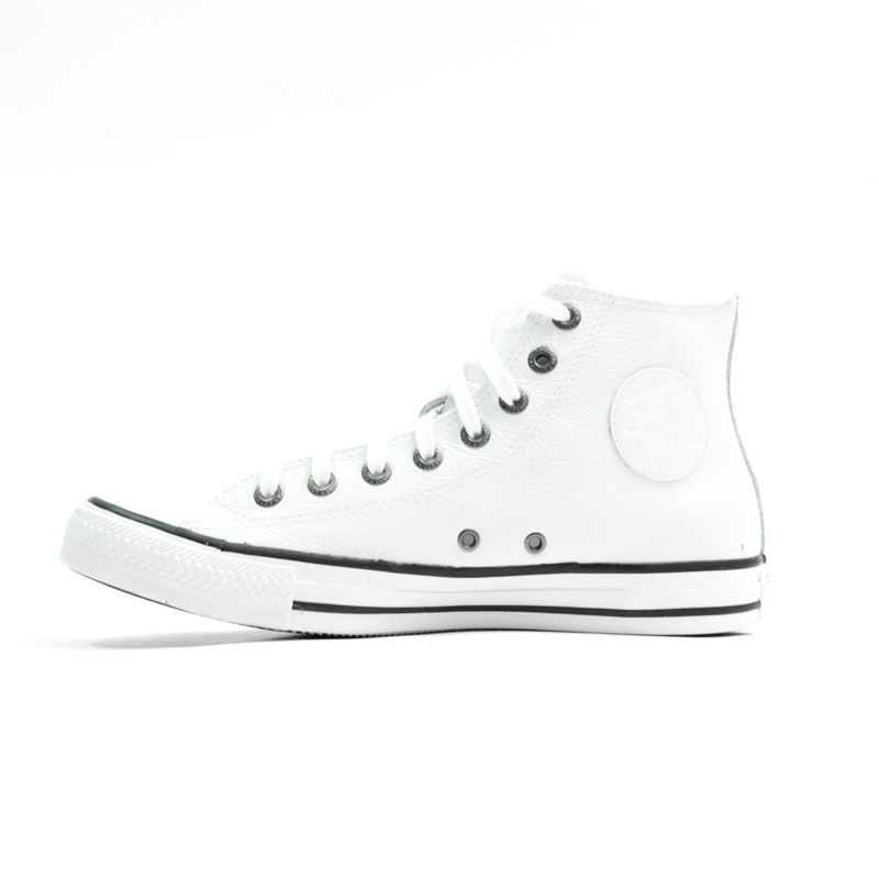 d17c921c59 Tênis Converse Chuck Taylor All Star Branco Couro - Overcome Clothing