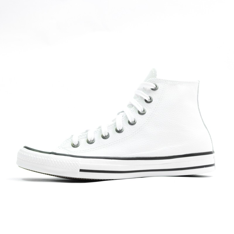 ce83baca3c96f Tênis Converse Chuck Taylor All Star Branco Couro - Overcome Clothing