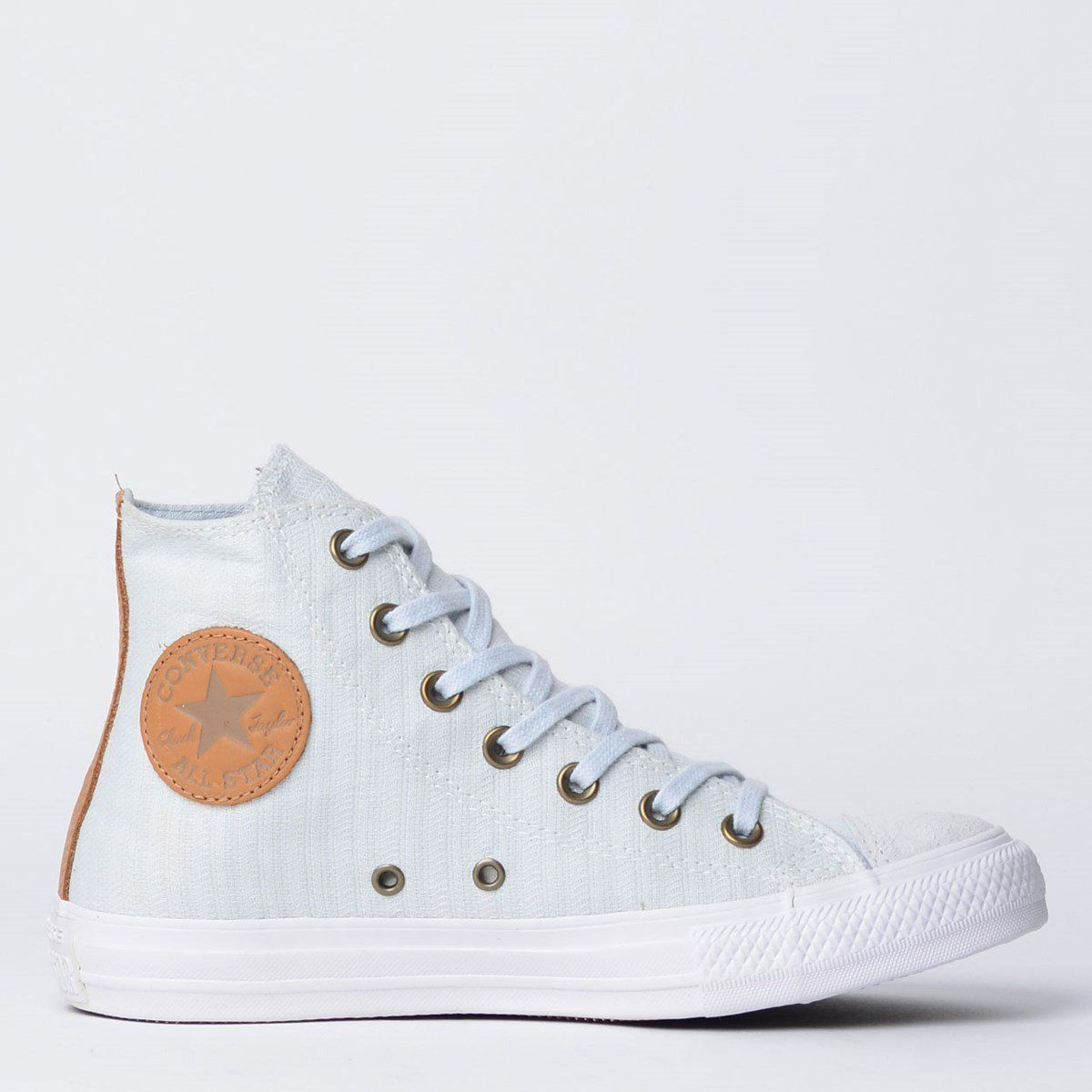 ddee43a68 Tênis Converse Chuck Taylor All Star Hi Cinza Puro Caramelo - Overcome  Clothing