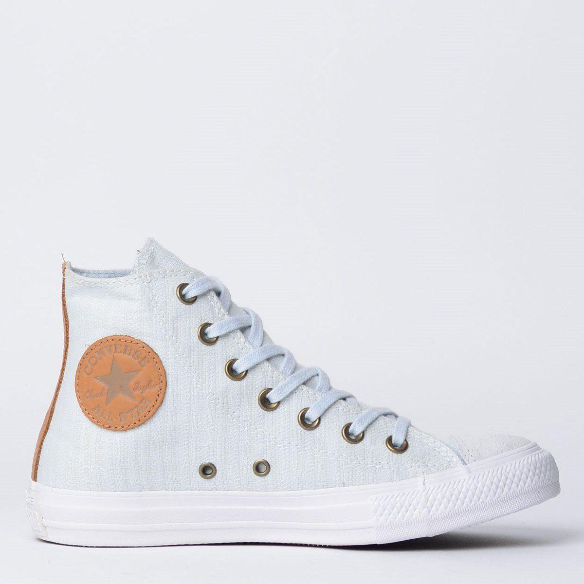 Tênis Converse Chuck Taylor All Star Hi Cinza Puro/Caramelo