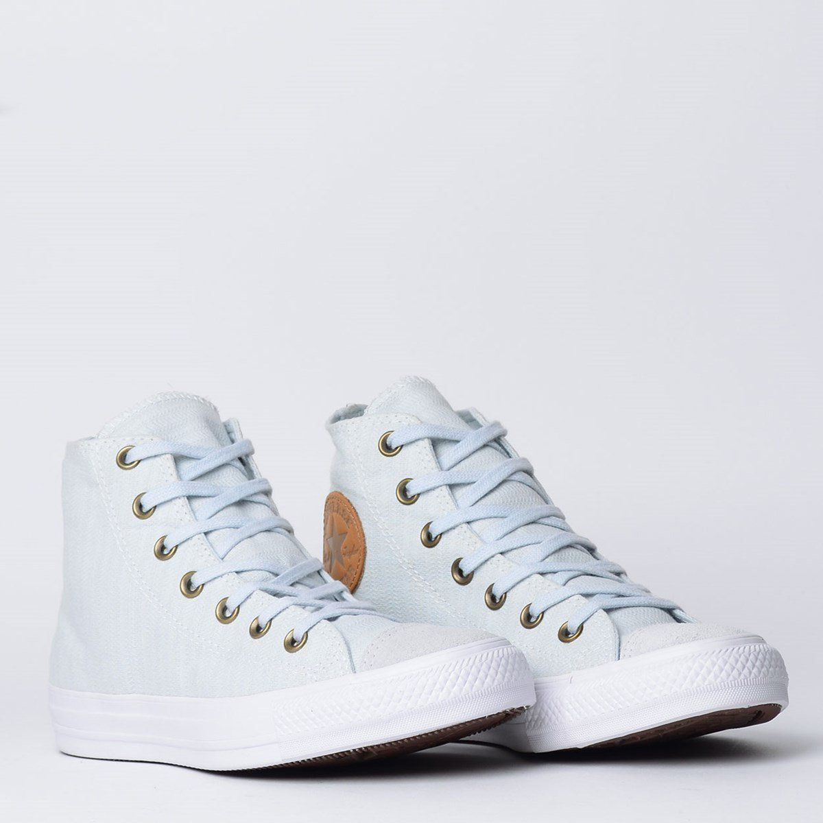 21bd3f3709 Tênis Converse Chuck Taylor All Star Hi Cinza Puro Caramelo - Overcome  Clothing