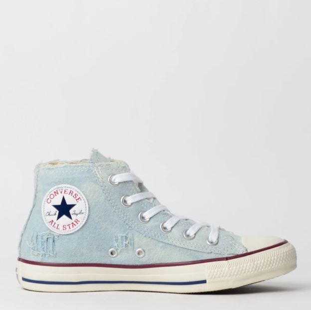 Tênis Converse Chuck Taylor All Star Jeans Claro