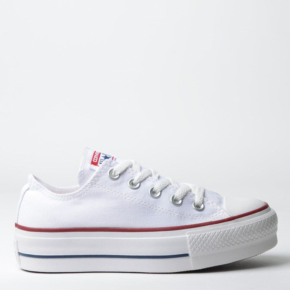 Tênis Converse Chuck Taylor All Star Plataforma Branco/Branco/Marinho