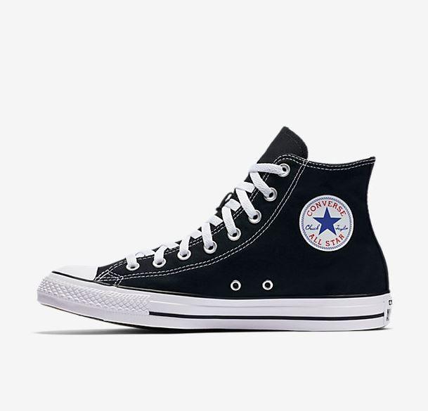 T 234 Nis Converse Chuck Taylor All Star Preto Branco Overcome Clothing