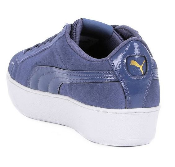 Tenis De Mujer Puma Vikky Platform Jr Softfoam Azul #25