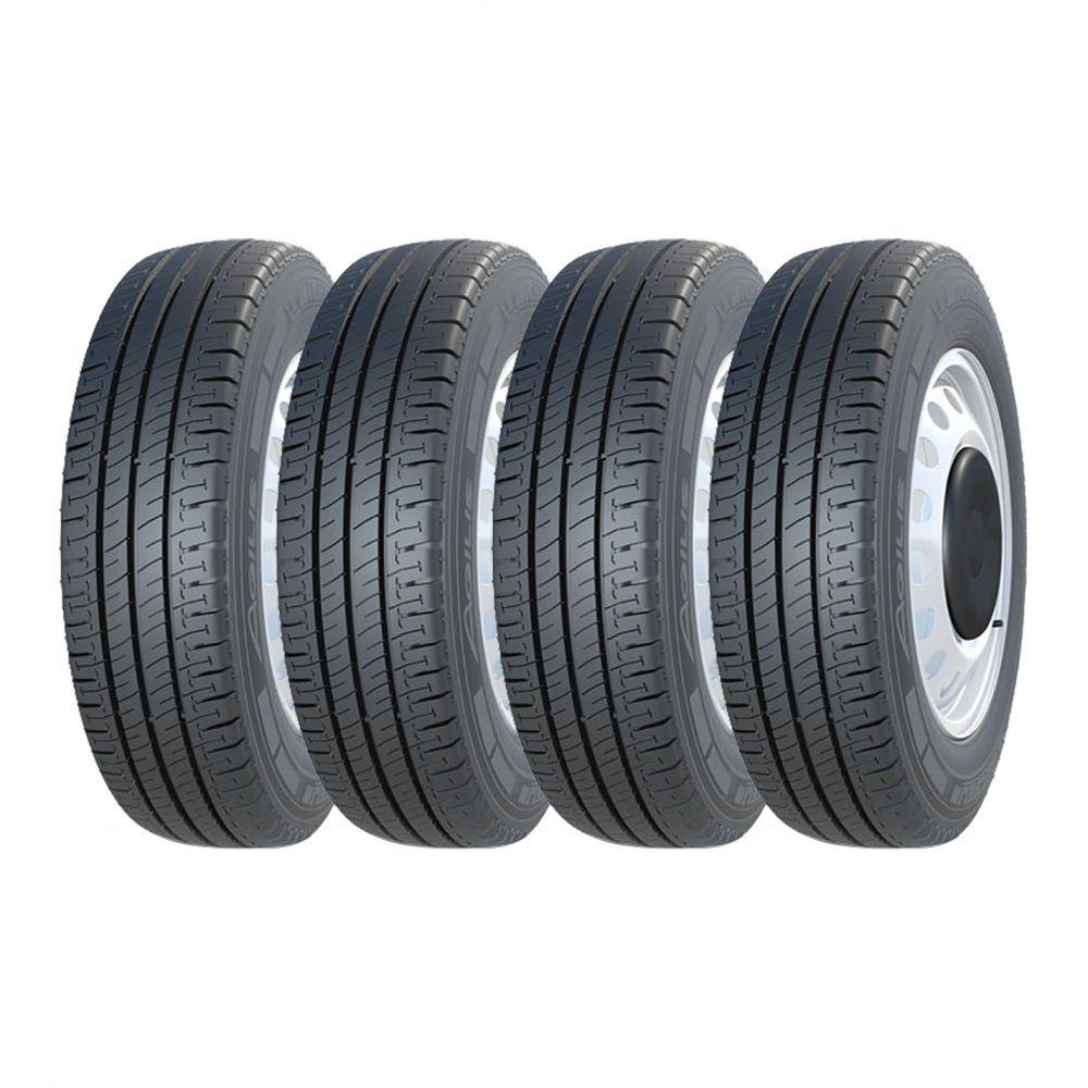 Kit 4 Pneus Michelin Aro 16 205/75R16C Agilis 110/108R
