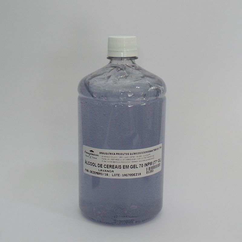 Álcool de Cereais em Gel - Lavanda 1000 ml