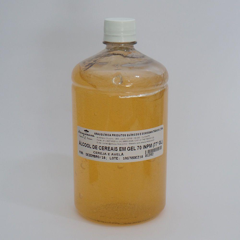 Álcool em Gel de Cereais - Cereja e Avelã 1000 ml