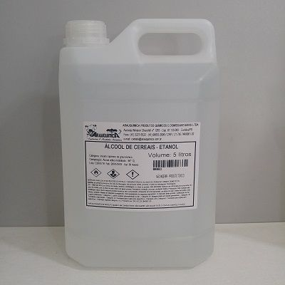 Álcool Etílico Cereais Milho 5 Litros