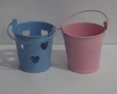 Balde c/ Alça Coração Azul ou Rosa