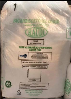 Bicarbonato de sódio - saco 25 kg