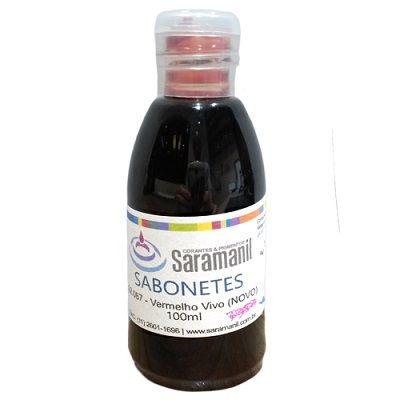 Corante p/ sabonetes 100 ml - Vermelho Morango