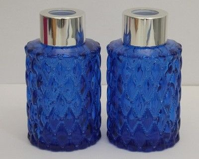 Frasco Vidro Azul Batido