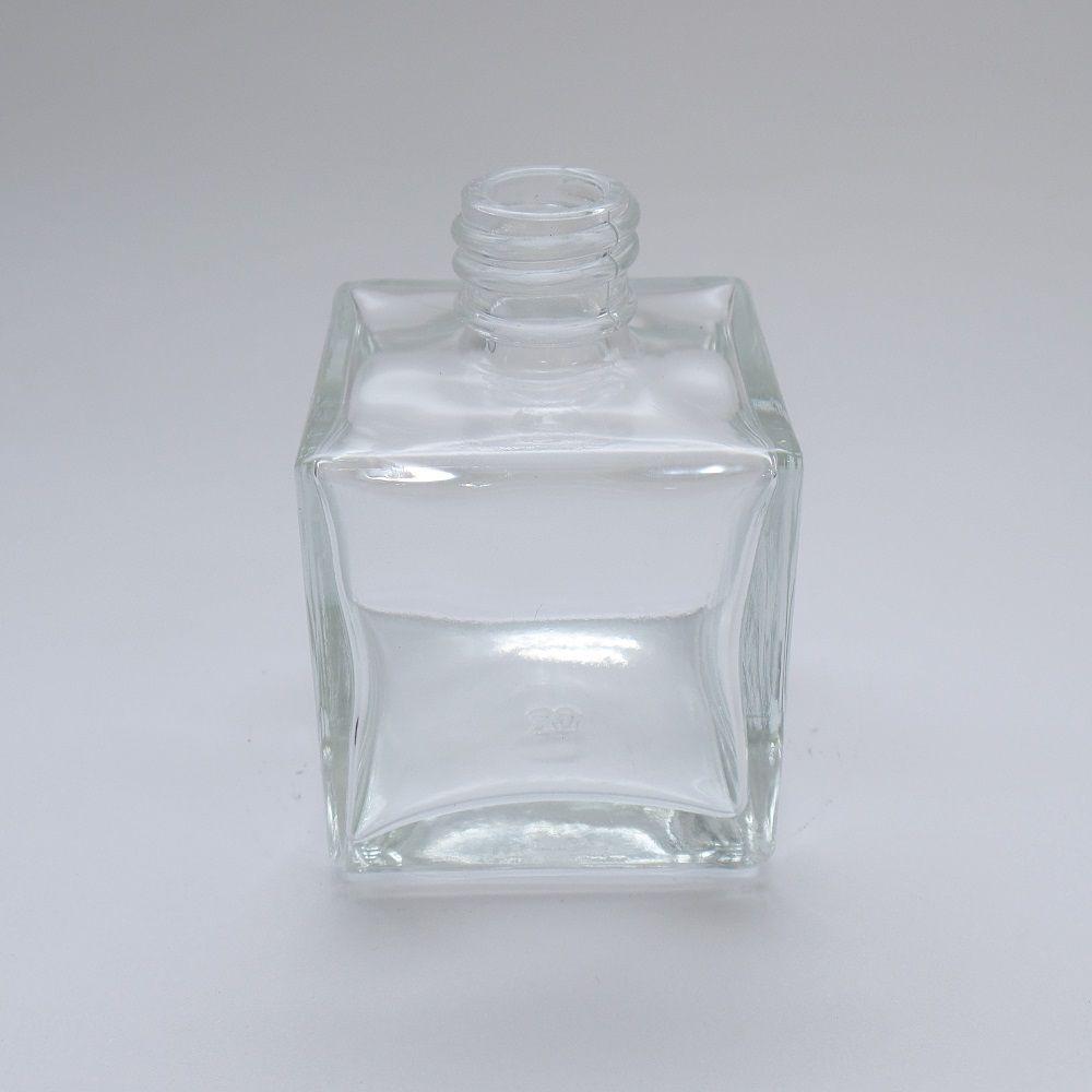 Frasco vidro Cube 100 ml Transparente R28