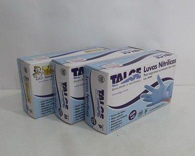 Tage Luva Nitrilica Azul s/ pó - Tamanho P
