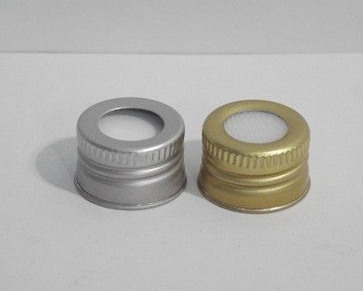 Tampa Alumínio Dourada b/24 c/furo