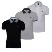 Camisa Polo Plus Size kit com 04 Logo em Metal