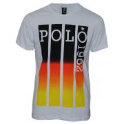 Camiseta com Estampa em Listras Verticais