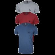 Camiseta Masculina com Logo Bordado