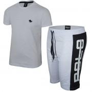 Kit Camiseta Branca e Bermuda Branca Polo RG518