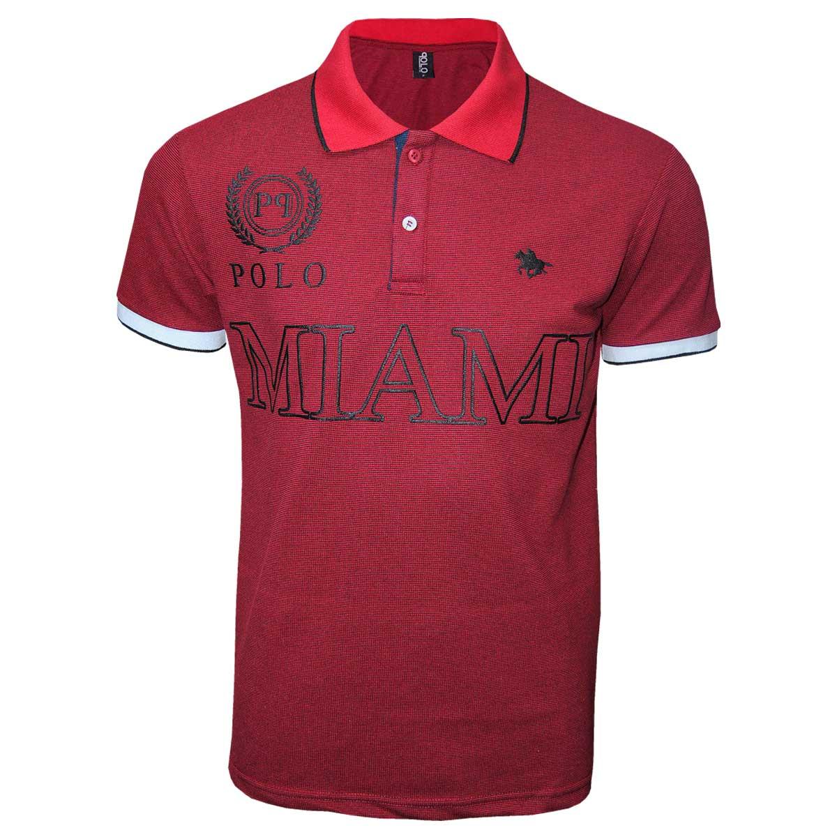 Camisa Gola Polo Masculina  Estampa Miami  Polo RG518