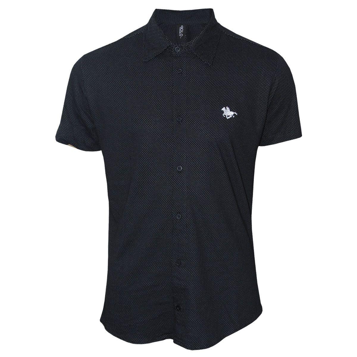 Camisa Manga Curta e Bordado Especial