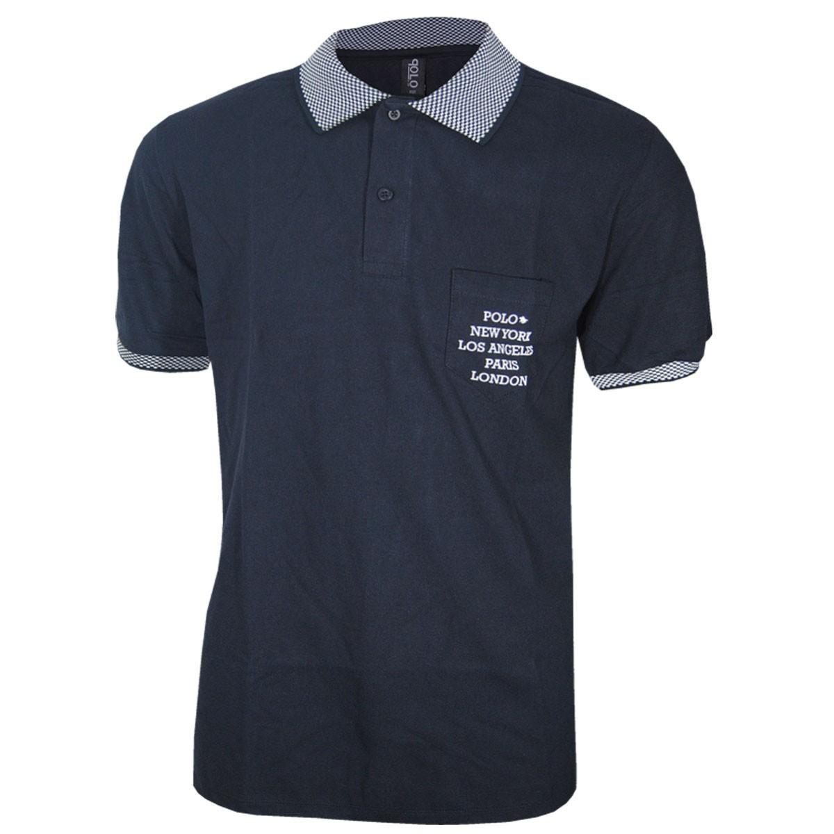 Camisa Plus Size Masculina Polo Rg518