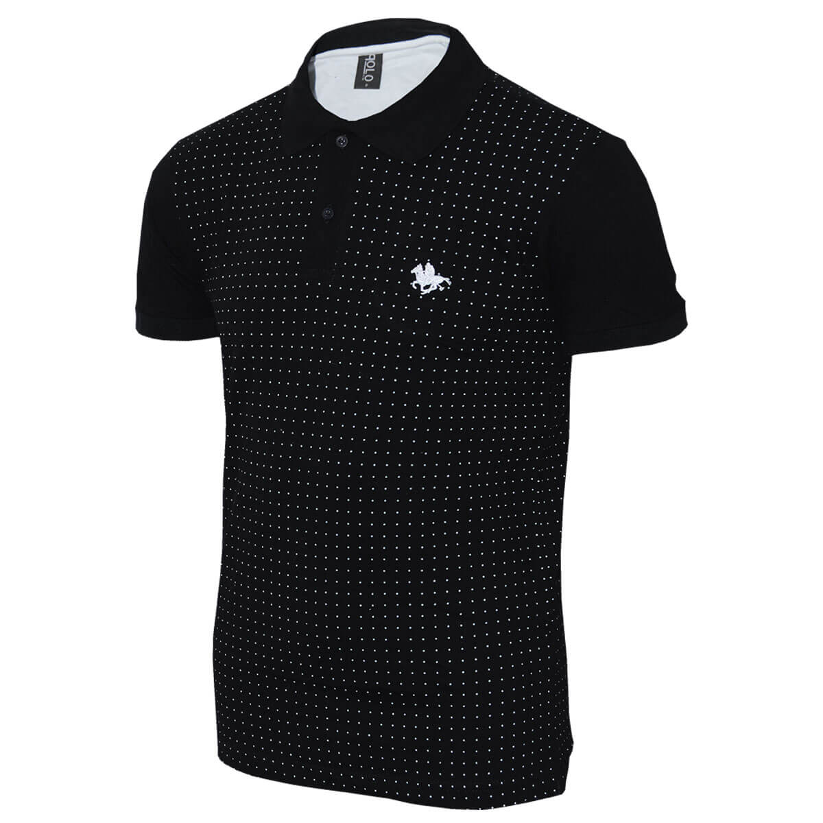 CAMISA POLO RG518 ESTAMPA MINI PRINT POÁ BORDADO ESPECIAL  14065