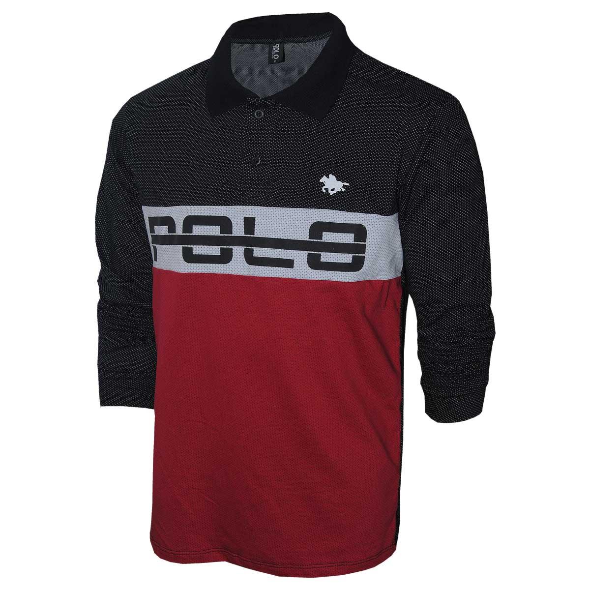Camisa Polo Masculina Rg518 Manga Longa