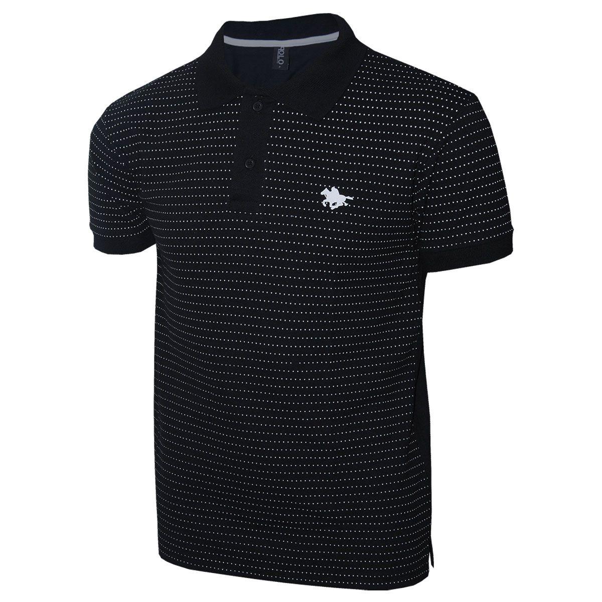Camisa Polo RG518 com Estampa Mini Print