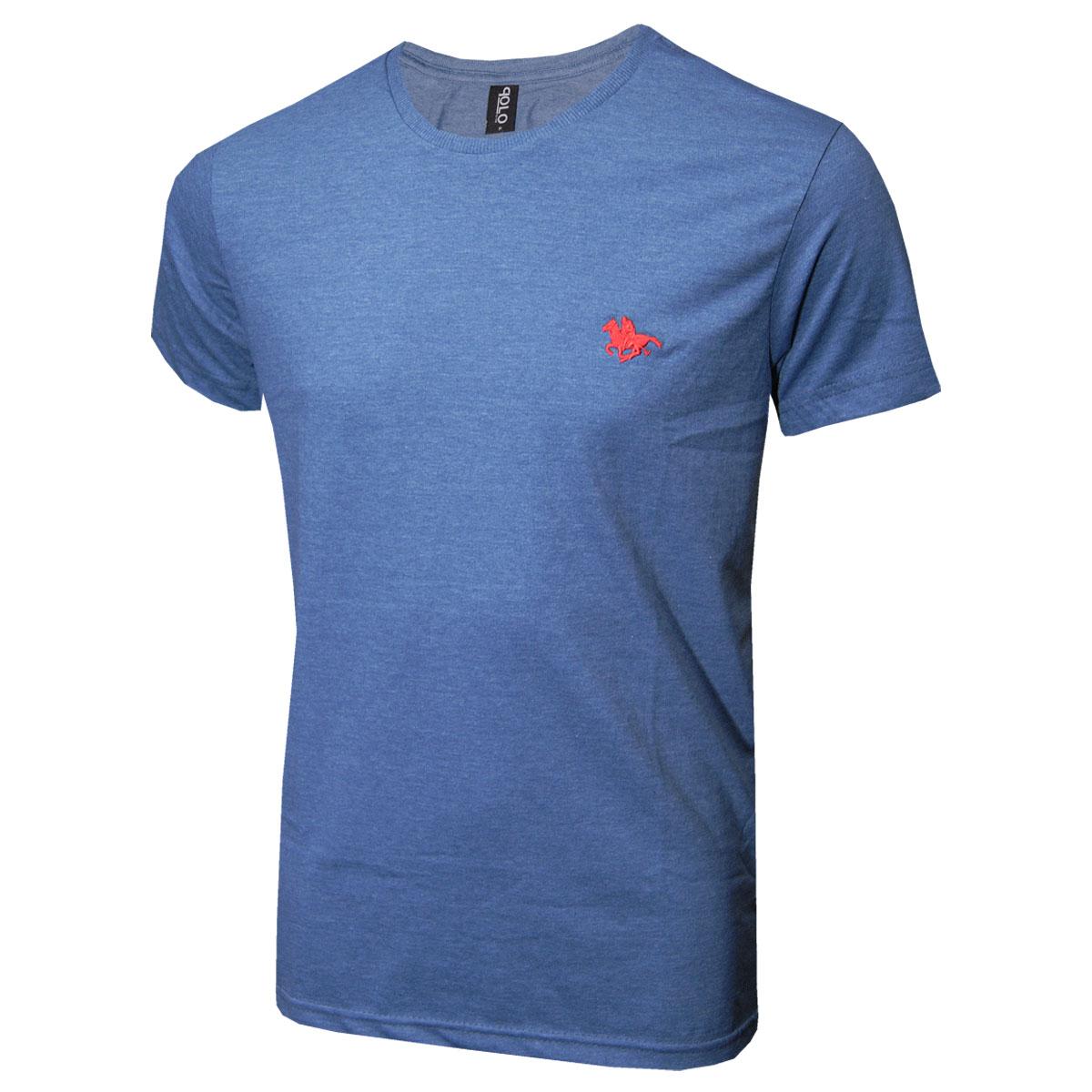 Camiseta Básica com Logo Bordado Cores Polo RG518