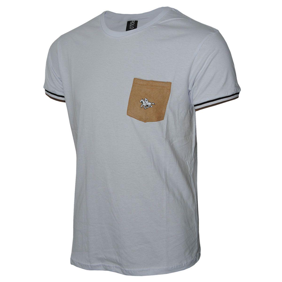 Camiseta Careca com Bolso Polo RG518