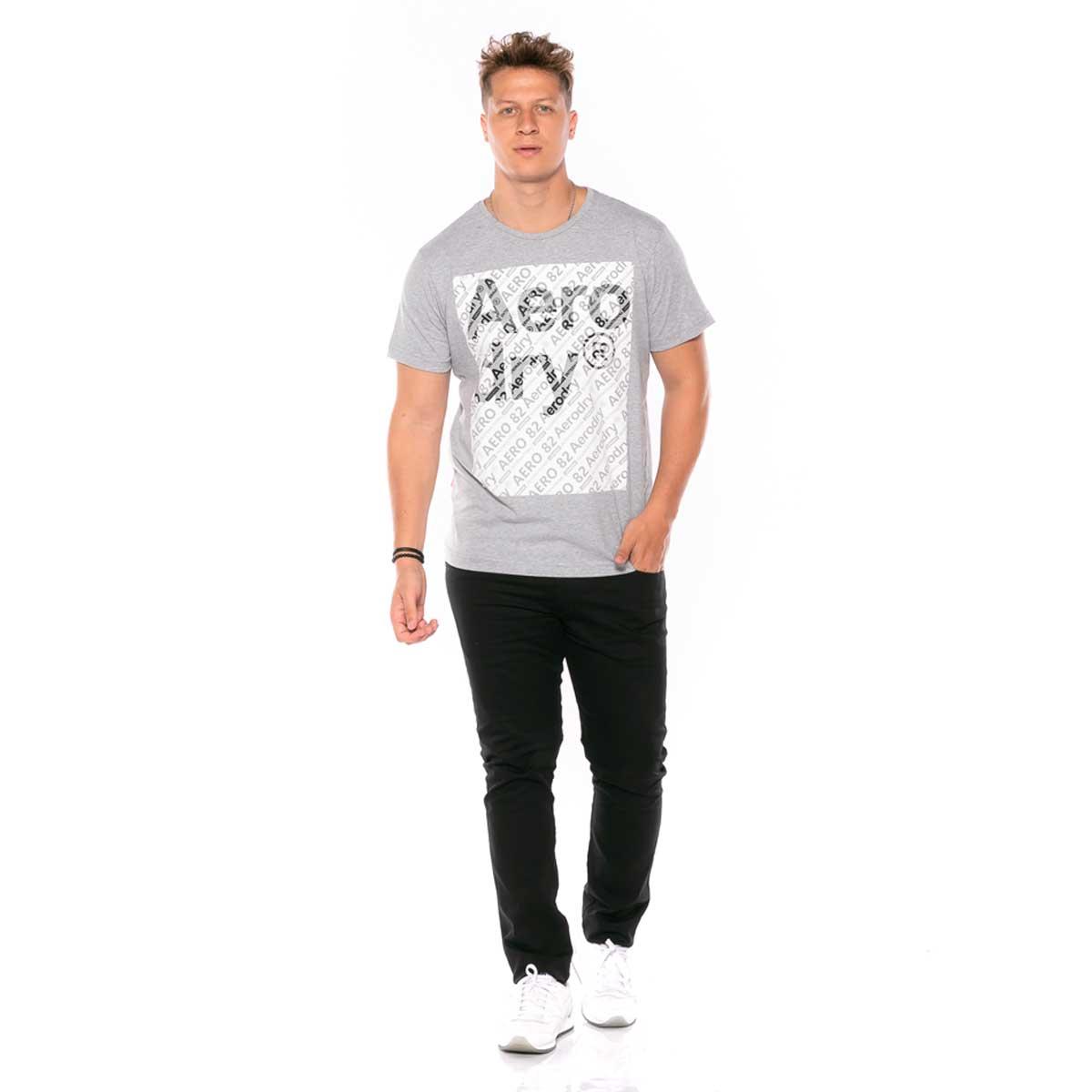 Camiseta em Meia Malha com Estampa em Relevo Aerodry rg518