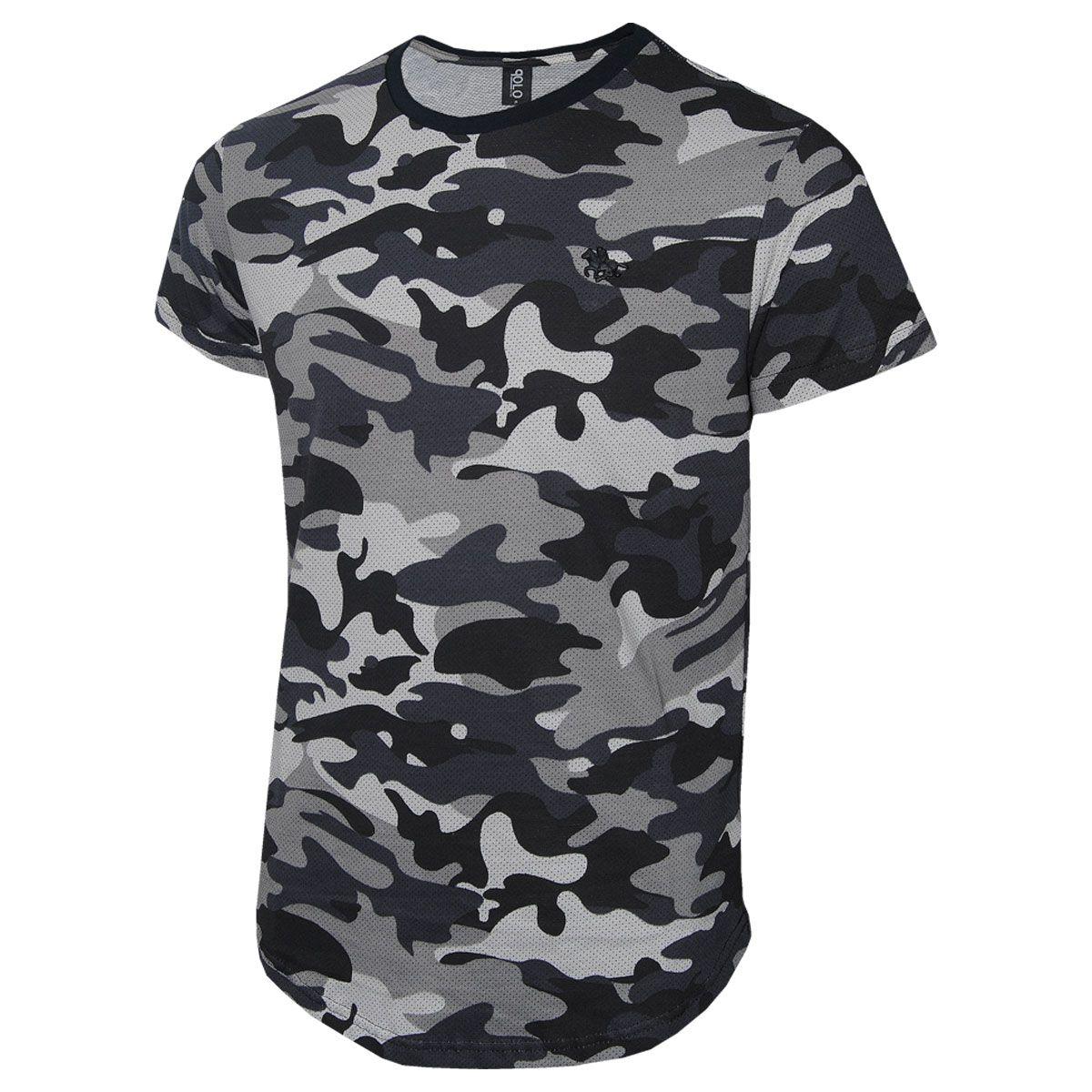 Camiseta Masculina Camuflada Polo RG518