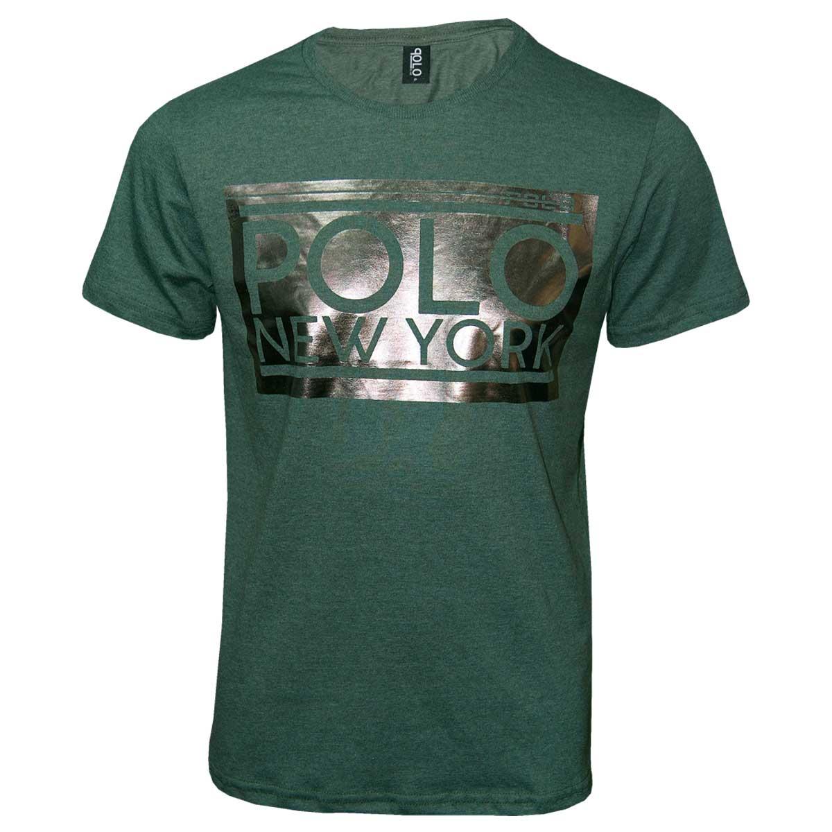 Camiseta Masculina com Estampa em Foil Vortex  Polo Rg518