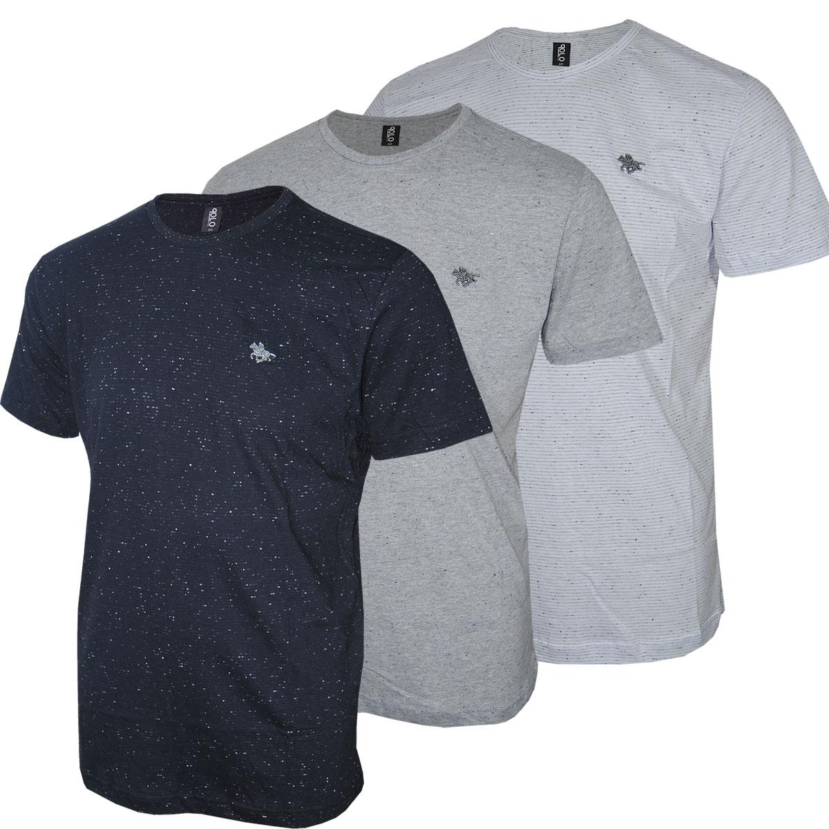 Camiseta Masculina Plus Size com 03 Cores