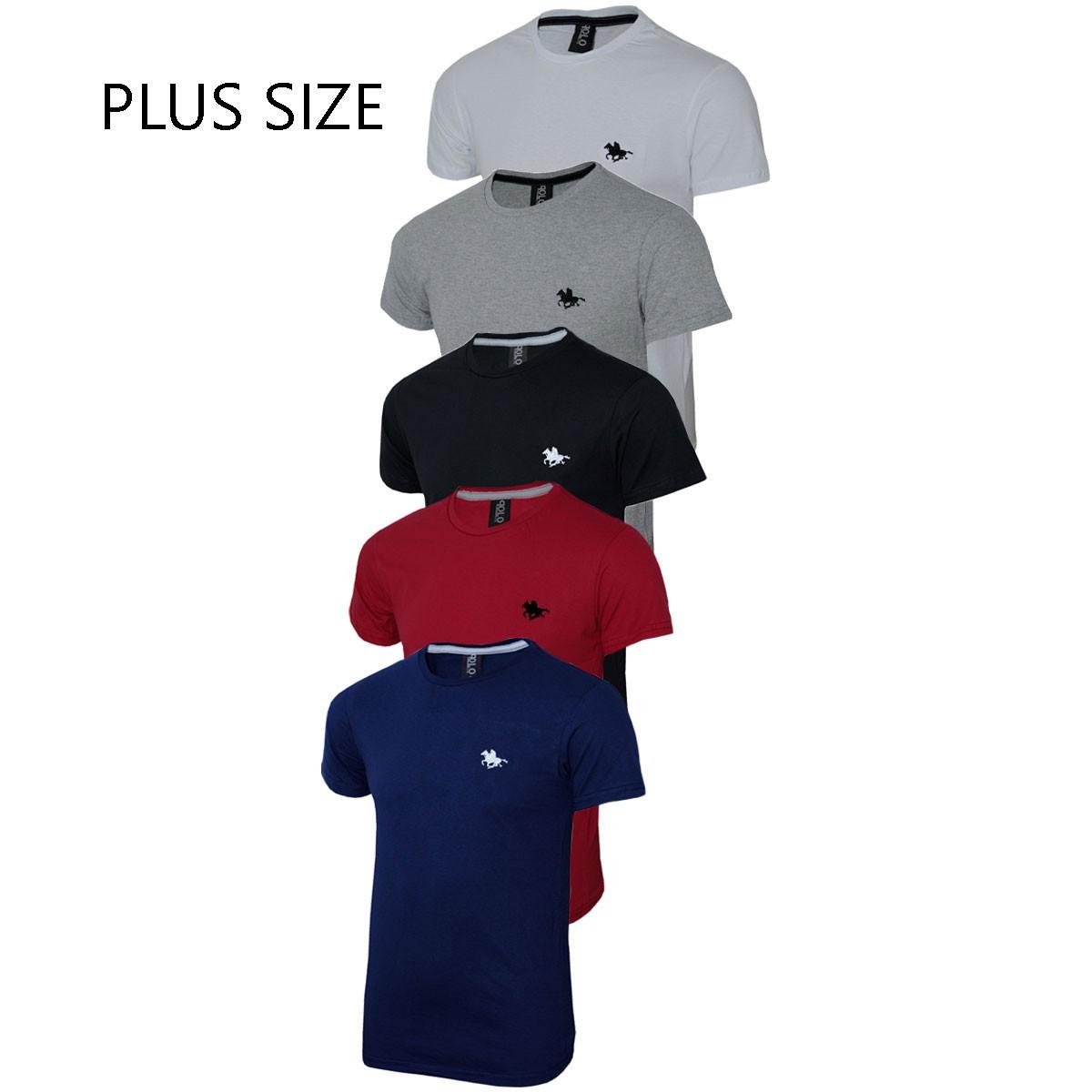 Camiseta Masculina Plus Size com 05 Cores Polo RG518