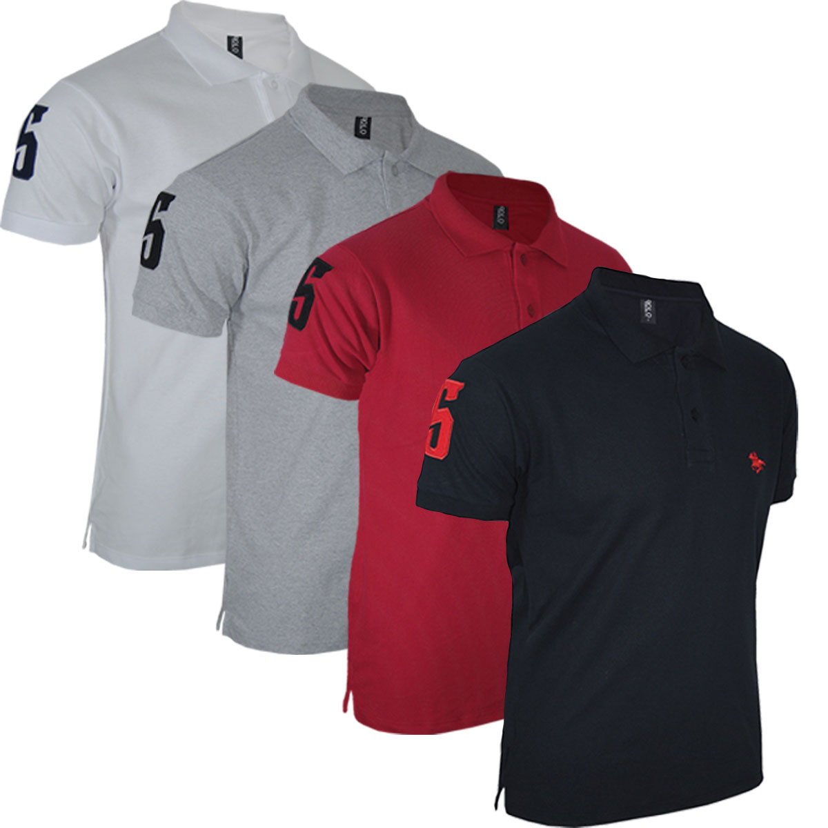 Kit 04 Camisas Camisetas  Gola Polo Masculina