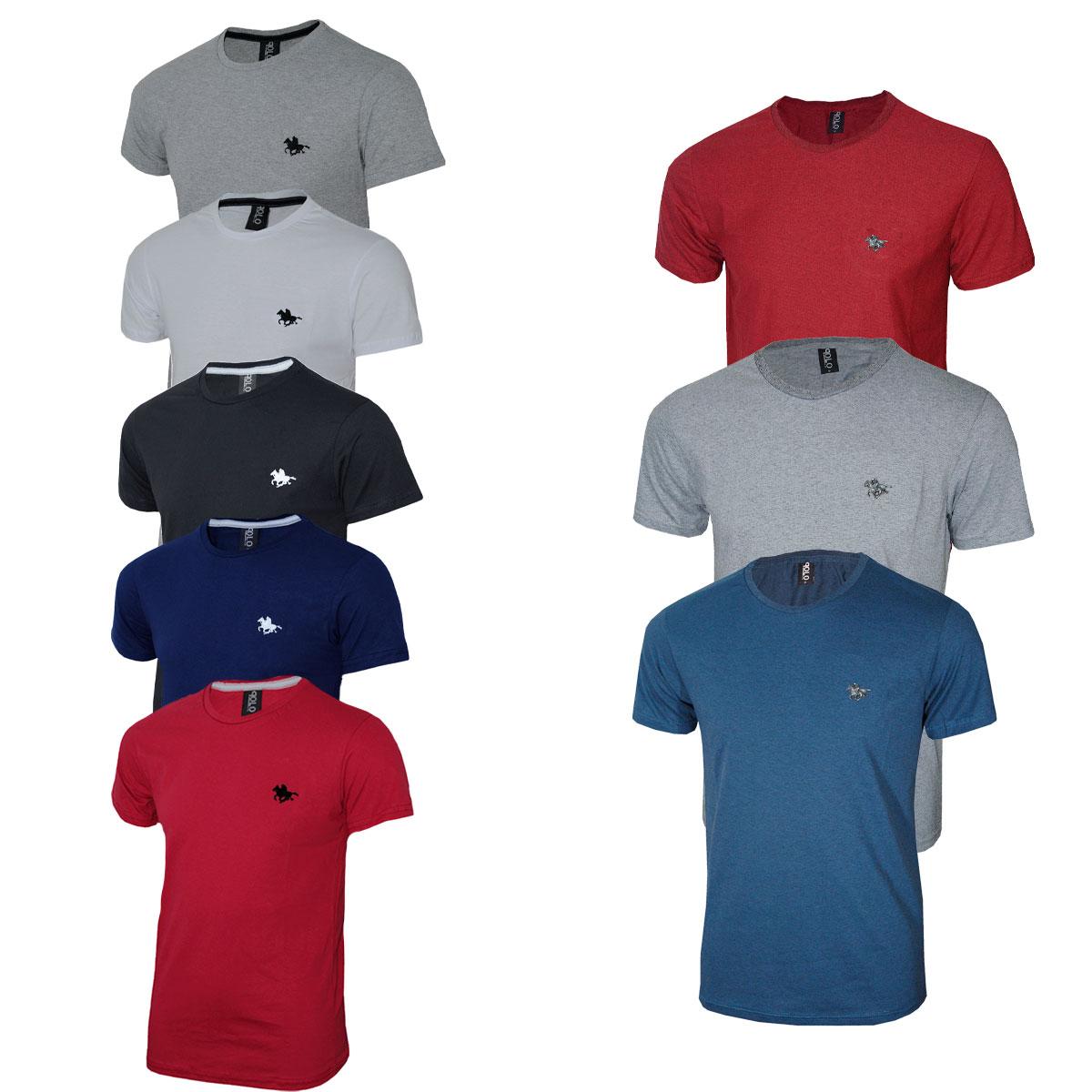 Kit  08 Camisetas Masculinas Blusa Polo RG518 Original