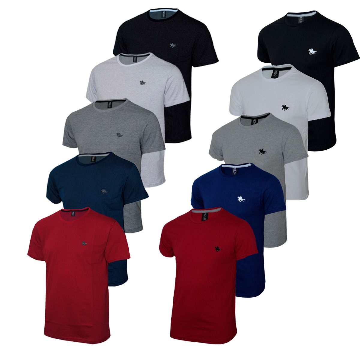 Kit 10 Camiseta Masculina Básica  Polo RG518