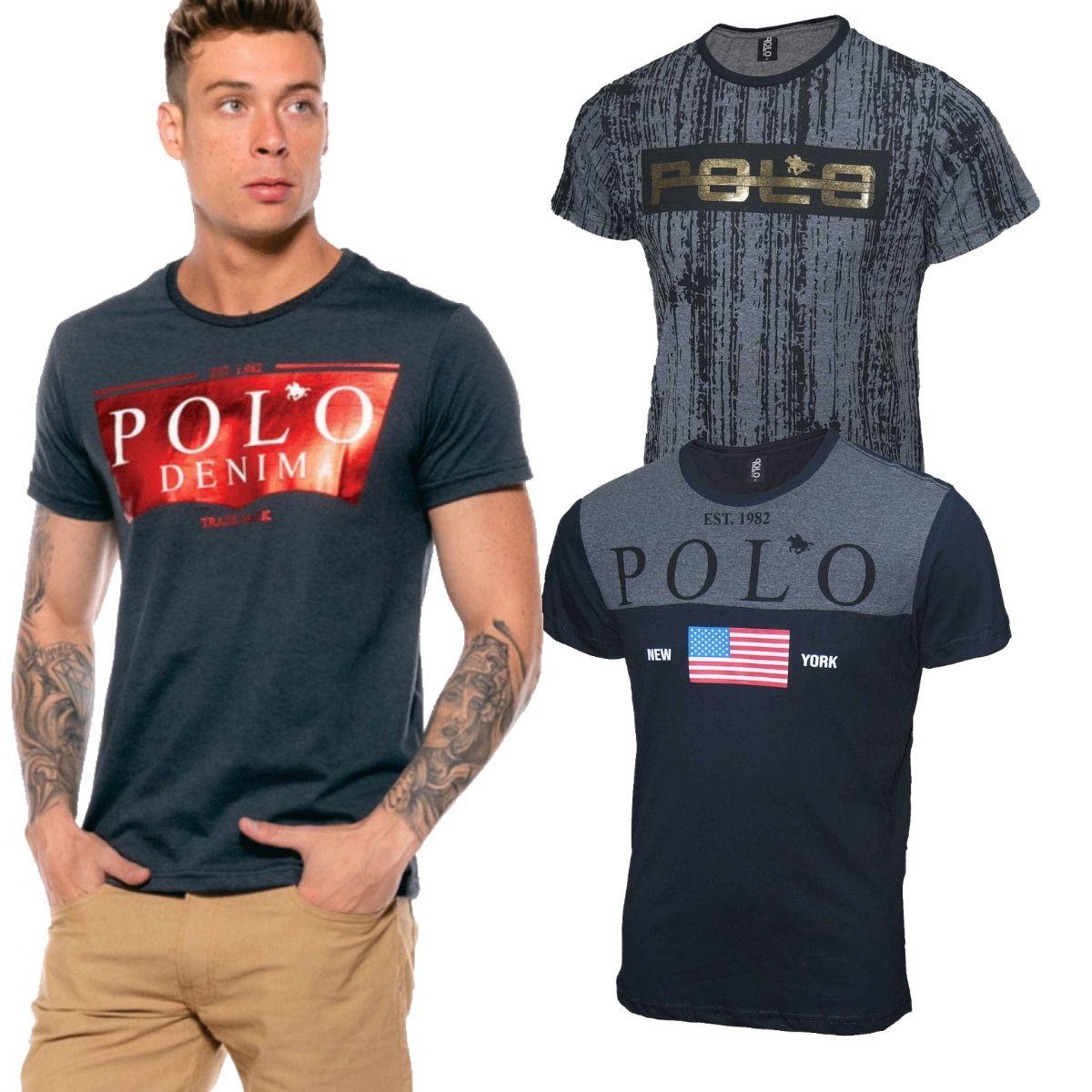 Kit Camiseta Masculina Camisetas estampadas