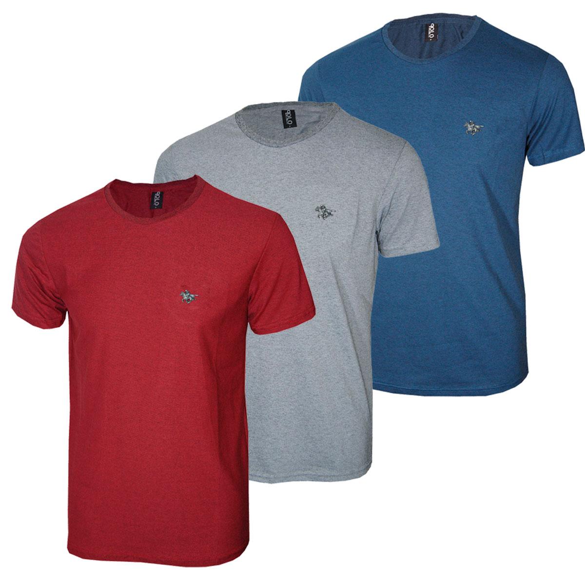 Kit Camiseta Masculina com Cavalo Metalizado