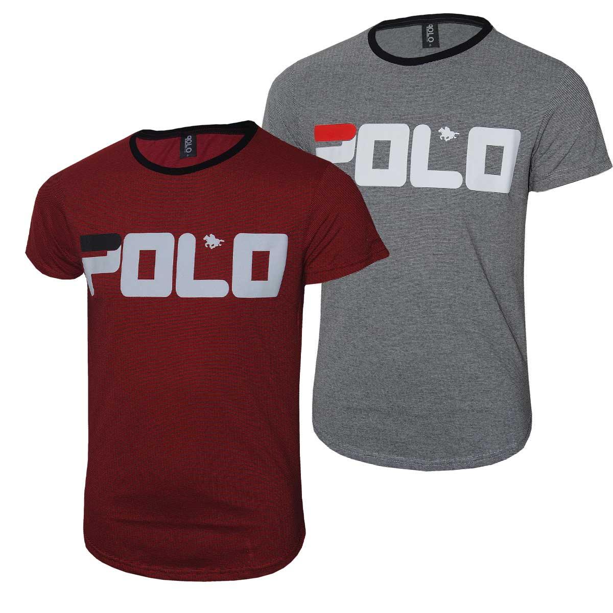 kit camiseta Swag Polo Rg518 com Estampa em Silk