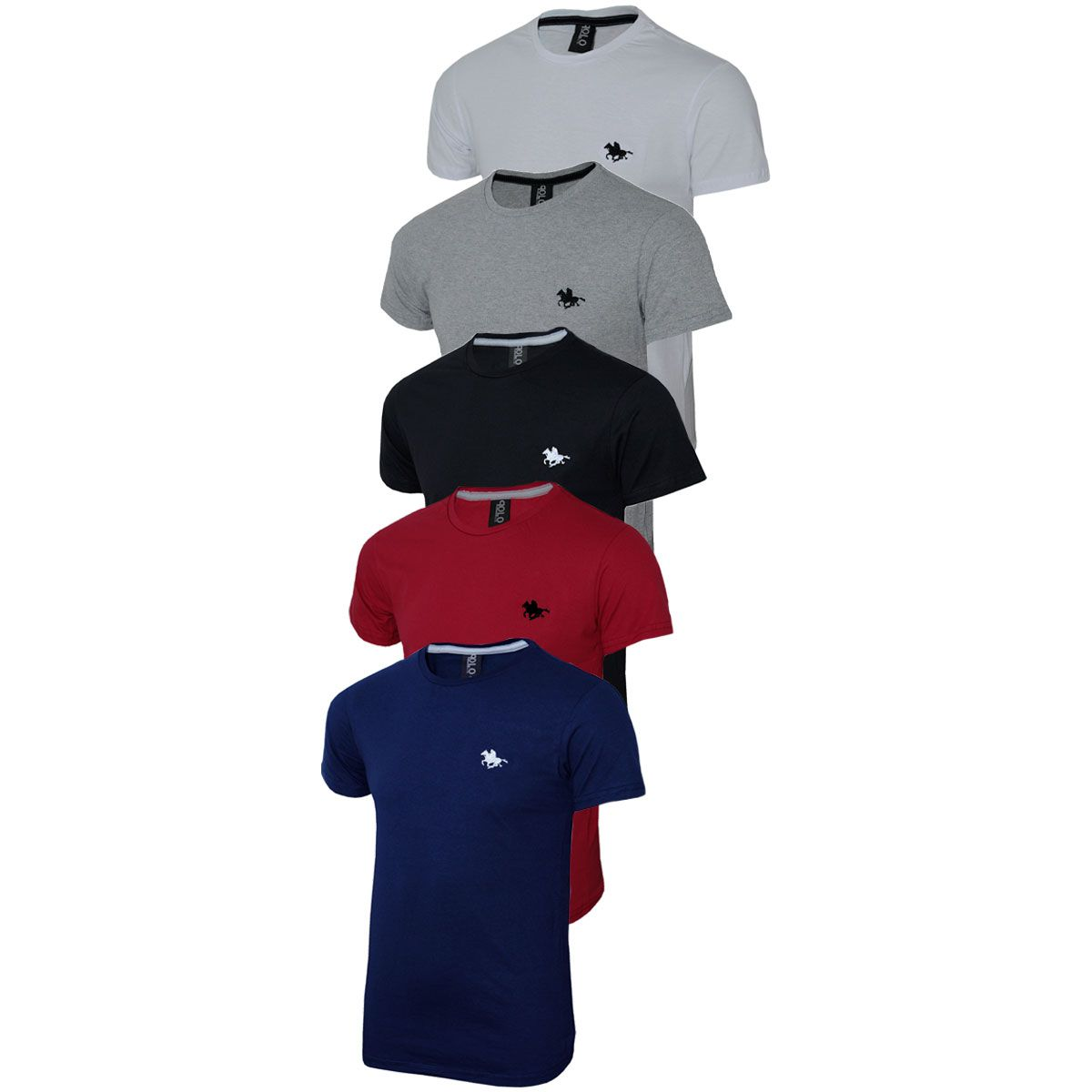 Kit Camisetas Masculinas Básicas 5 Cores Polo RG518