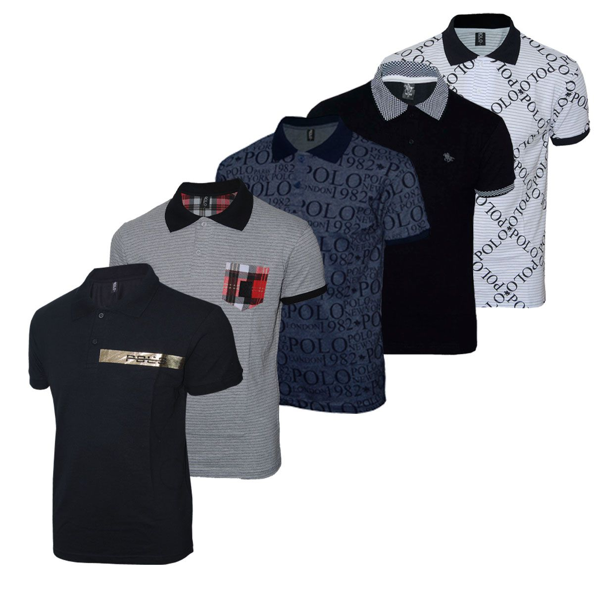 Kit Camisetas Polo Rg518 Sortidas