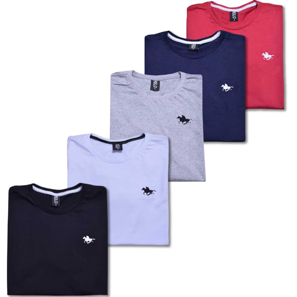 Kit Polos Masculinas básicas com Bordado